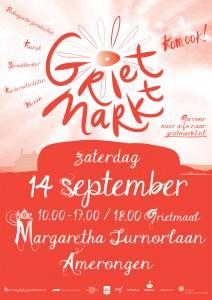 Poster Grietmarkt 14 september 2013