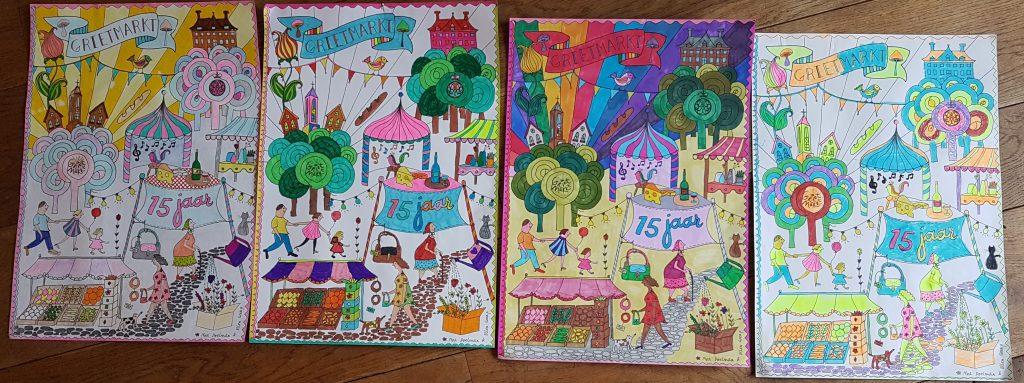 Winnaars Kleurwedstrijd Jubileum Kleurplaat Grietmarkt